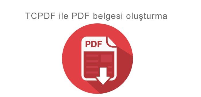 PHP ile PFD Dosya Oluşturmak